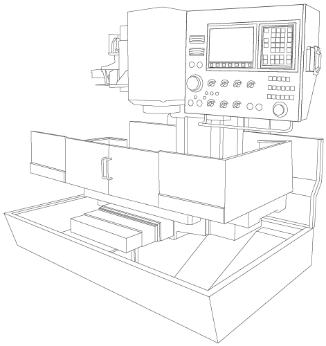 Drawing of a CNC Machine